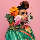 ALOK with flowers in hair