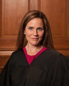 Amy Coney Barrett wearing a black robe