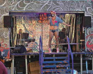 Drag queen on stage