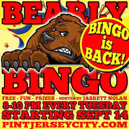 Event flyer with a cartoon bear with a snarl on his face and the rest is text explaining the event