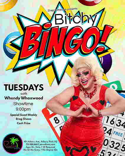 Bitchy Bingo flyer with Wendy on the cover