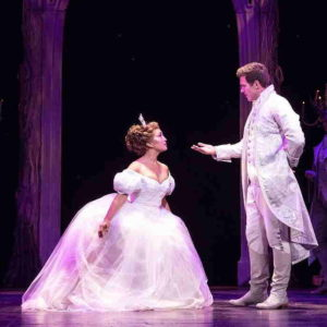 Cinderella curtsy to the prince