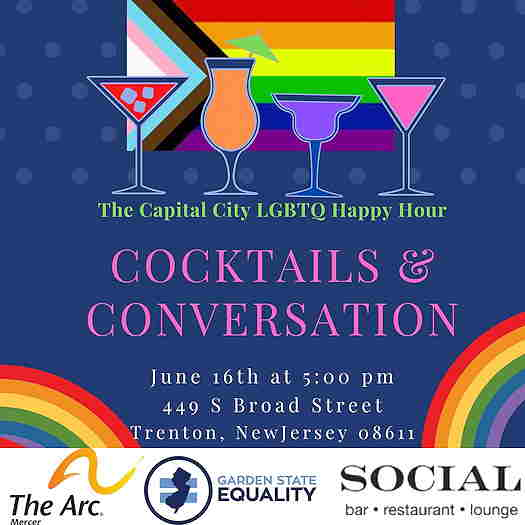 Cocktails & Conversation: The Capital City LGBTQ Happy Hour event flyer