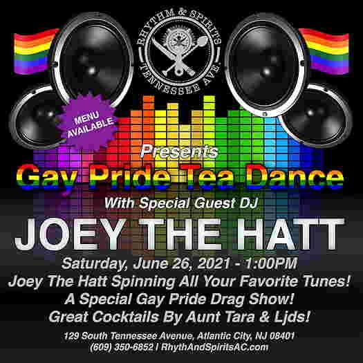 Gay Pride Tea Dance event flyer