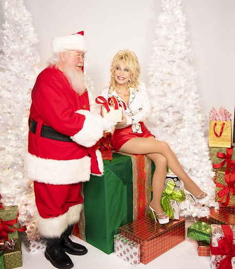 Dolly Parton with Santa
