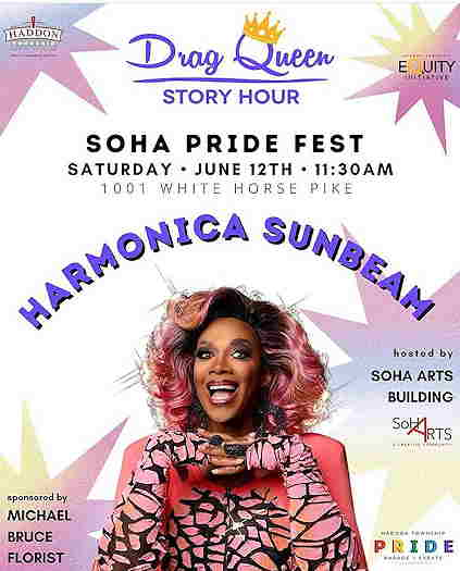 Drag Queen Story Hour With Harmonica Sunbeam event flyer