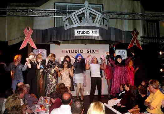 Original cast on the stage at Studio Six in Atlantic City