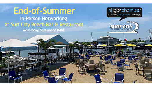 Surf City Beach Bar & Restaurant patio seating area