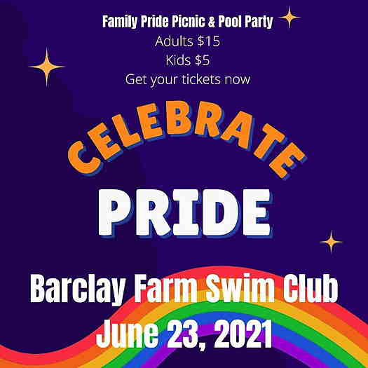 Family Pride Picnic & Pool Party event flyer