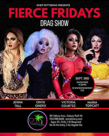 Jenna Tall, Onyx Onyx, Victoria Courtez and Maria Topcatt on the cover of the flyer