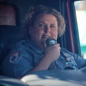 Fortune Feimster dressed as an EMT