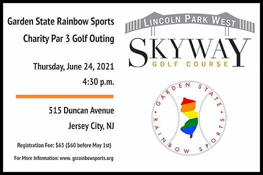 Garden State Rainbow Sports Charity Flyer