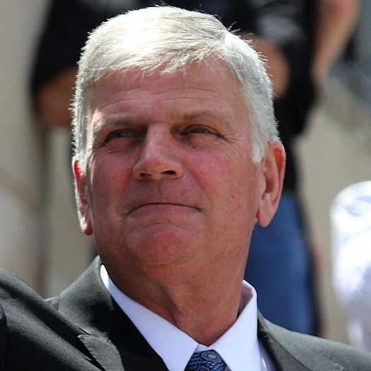 Franklin Graham wearing a dark suit