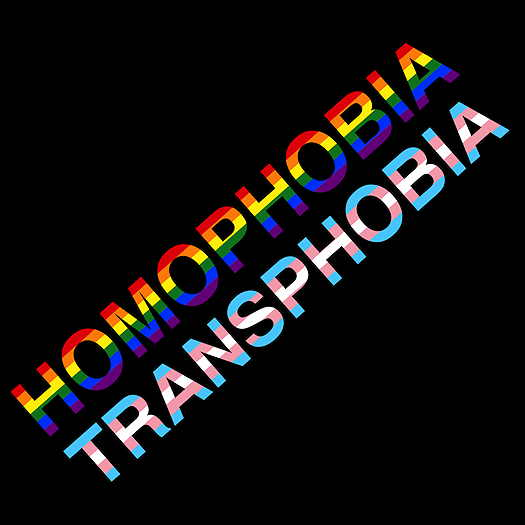 Image that say Homophobia and Transphobia