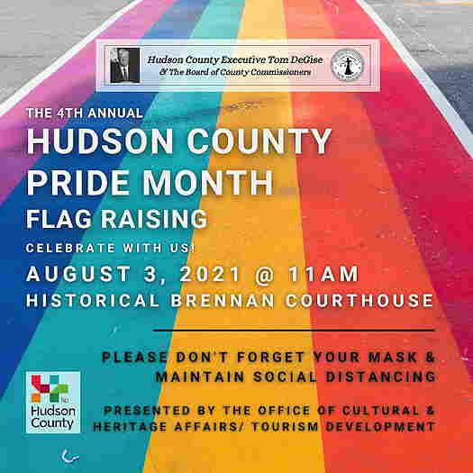 Hudson County Pride Flag Raising event flyer
