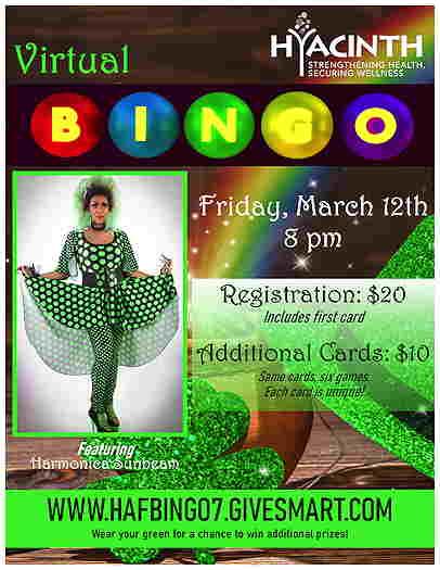 Hyacinth St. Patrick's Celebration Virtual Bingo