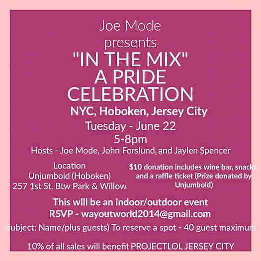 In The Mix: A Pride Celebration textual event flyer with pink background