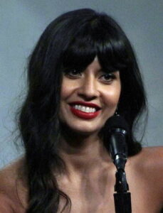 Jameela Jamil smiling