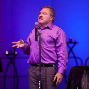 James Van Praagh on stage
