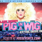 Lady Bunny wearing a pig nose