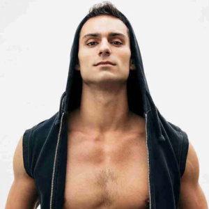 Leonardo Martinez wetting a unzipped hoodie