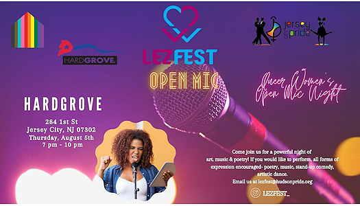 LezFest Open Mic Night event flyer