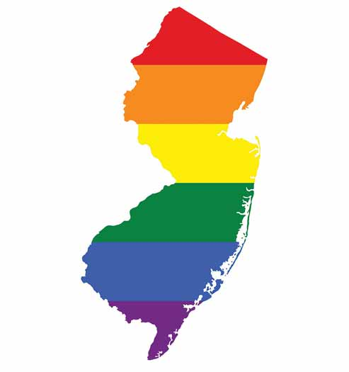 Rainbow map of New Jersey