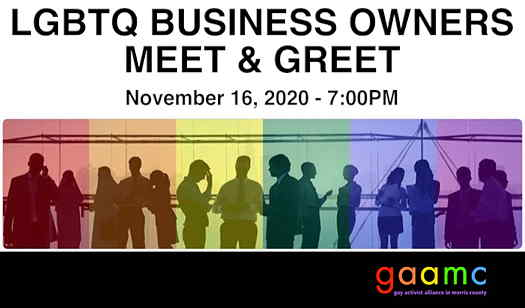 LGBTQ Business Owners Meet & Greet event flyer