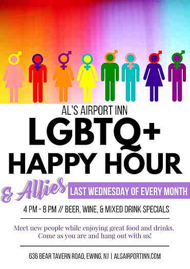 LGBTQ Happy Hour At Al's Airport Inn flyer