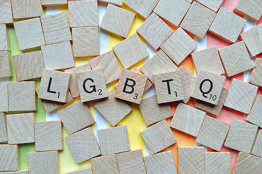 LGBTQ scrabble letters