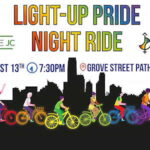 Light-Up Pride Night Ride at Grove Street Station in Jersey City