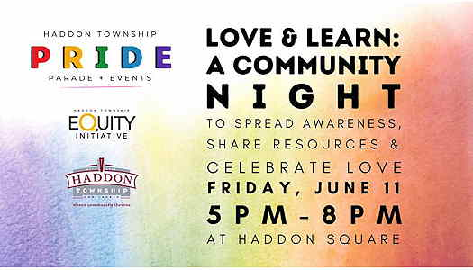 Love & Learn: A Community Night flyer with full details on the event