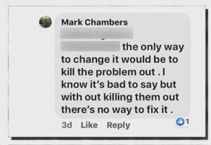 Mark Chambers Twitter post