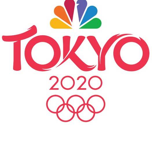 NBC logo and Tokyo 2020-21 Olympics