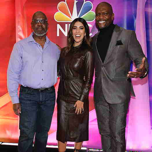 Andre Braugher and Stephanie Beatriz of