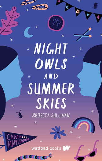 Night Owls and Summer Skies by Rebecca Sullivan book cover art