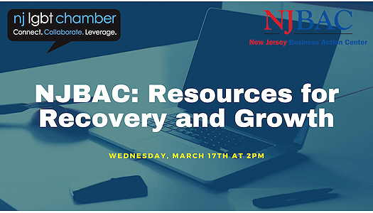 NJ Business Action Center: Resources For Recovery And Growth flyer