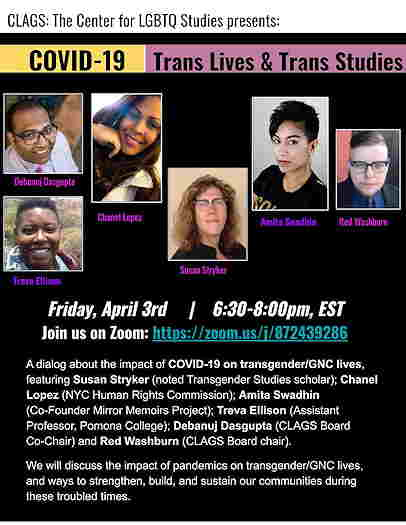 Online Event: Covid-19 & Transgender Lives Studies Virtual Panel