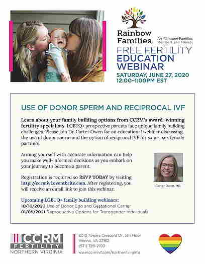 Rainbow Families Online Event: Donor Sperm & Reciprocal IVF