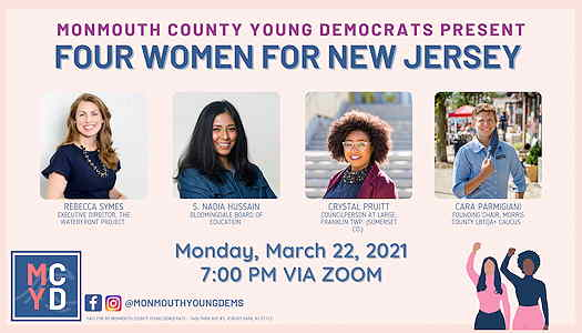 Four Women For New Jersey: A WHM Discussion flyer