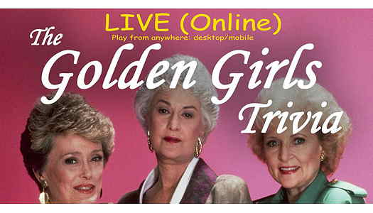 Blanche, Dorothy and Rose from Golden Girls on the flyer