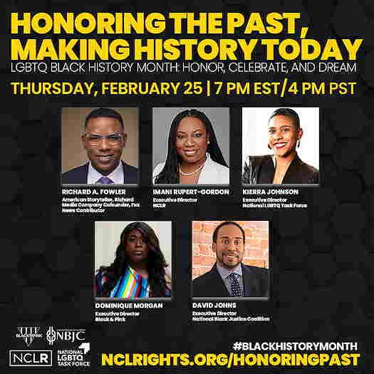 LGBTQ Black History Month online webinar