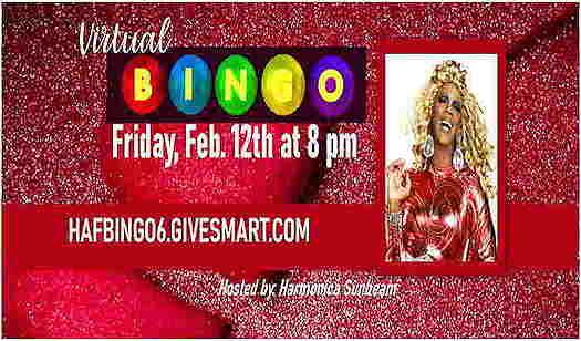 Hyacinth Valentine's Day Virtual Bingo flyer