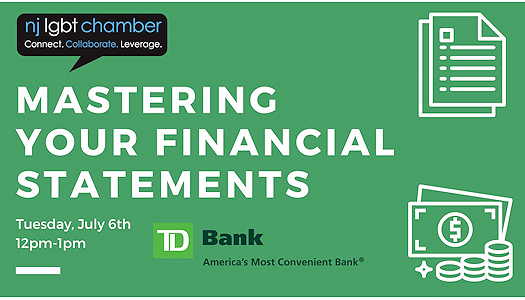 Mastering Your Financial Statements textual event flyer