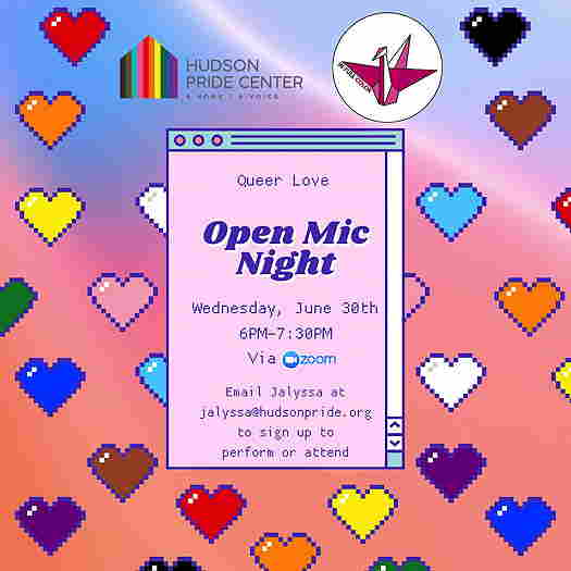 Queer Love: Open Mic Night event flyer
