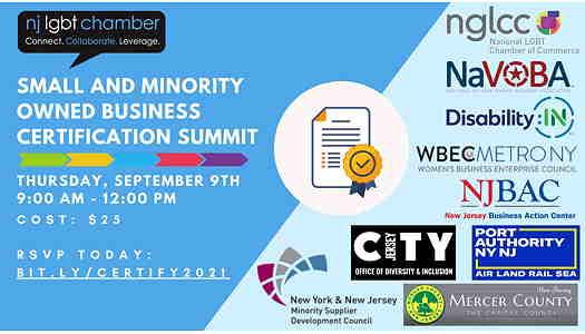 NJ LGBT Chamber Of Commerce event flyer