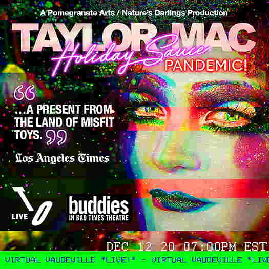 Taylor Mac holiday flyer