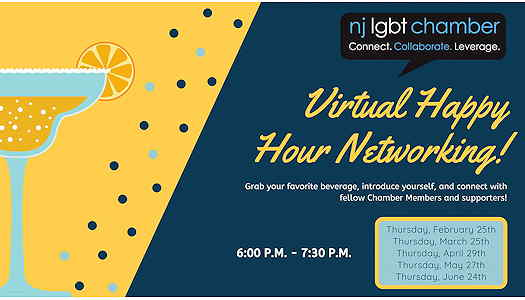 Virtual Happy Hour Networking flyer