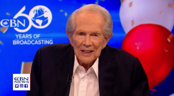 Pat Robertson talking about stepping down