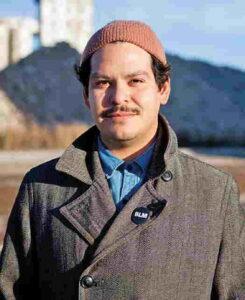 Pepito Armando-Minjarez wearing a brown hat and grey jacket